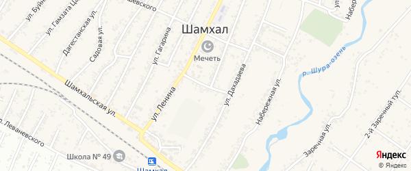 Советская улица на карте поселка Шамхала с номерами домов