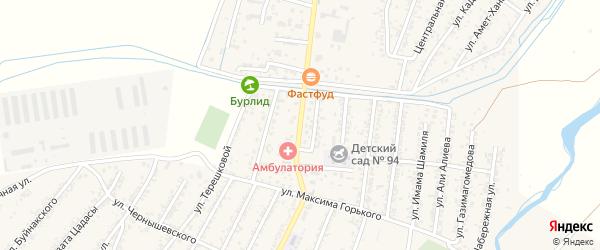 Улица Ленина на карте поселка Шамхала с номерами домов