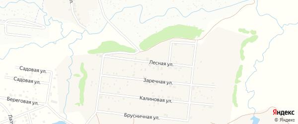 Лесная улица на карте деревни Устакасы с номерами домов