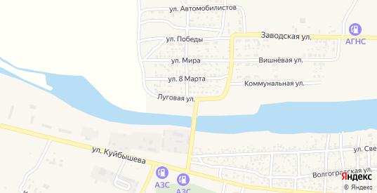 Луговая улица в Лагани с номерами домов на карте. Спутник и схема онлайн