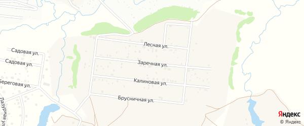 Заречная улица на карте деревни Устакасы с номерами домов