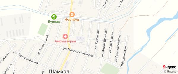 Улица Батырмурзаева на карте поселка Шамхала с номерами домов