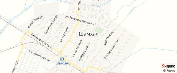 Карта поселка Шамхала города Махачкалы в Дагестане с улицами и номерами домов