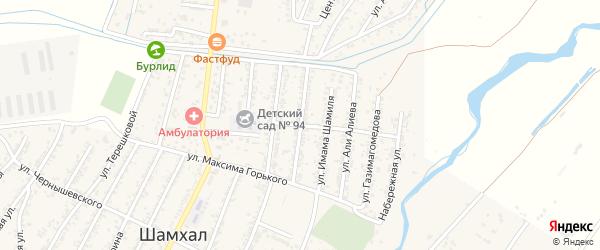 Улица Казбекова на карте поселка Шамхала с номерами домов