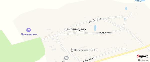 Лагерная улица на карте деревни Байгильдино с номерами домов