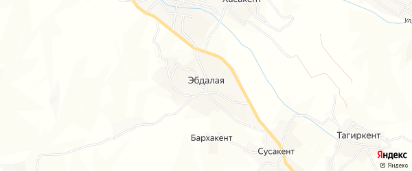 Карта села Эбдалой в Дагестане с улицами и номерами домов