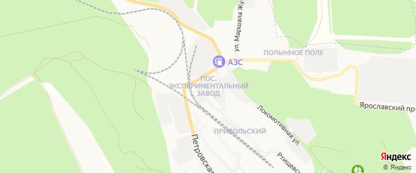 Карта поселка Экспериментального завода города Вольска в Саратовской области с улицами и номерами домов