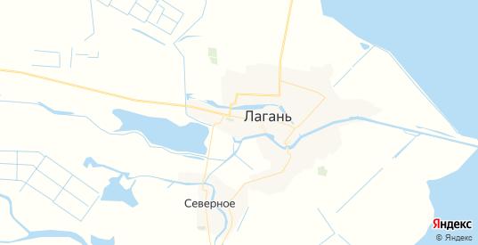 Карта Лагани с улицами и домами подробная. Показать со спутника номера домов онлайн