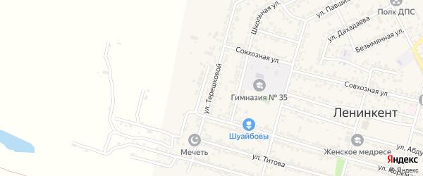 Улица Терешкова на карте поселка Ленинкента с номерами домов