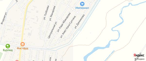 Улица Даниялова на карте поселка Шамхала с номерами домов