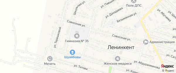 Улица Павших Земляков на карте поселка Ленинкента с номерами домов