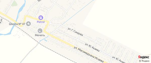 Улица Саидова на карте поселка Шамхала с номерами домов