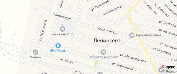 Депутатская улица на карте поселка Ленинкента с номерами домов