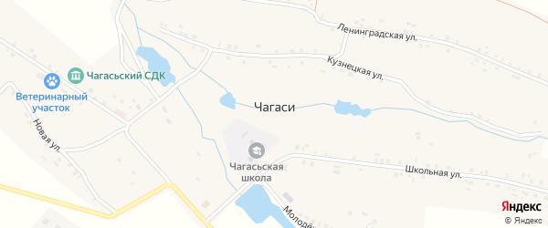 Ленинградская улица на карте деревни Чагаси с номерами домов