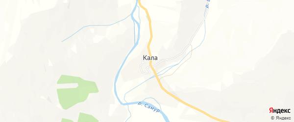 Карта села Калы в Дагестане с улицами и номерами домов