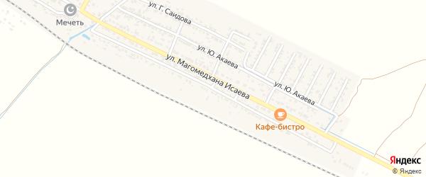 Красноармейская улица на карте поселка Шамхала с номерами домов