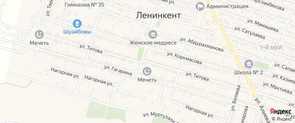 Улица Титова на карте поселка Ленинкента с номерами домов