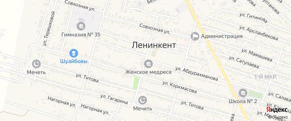 Улица Сайдулы Магомедова на карте поселка Ленинкента с номерами домов