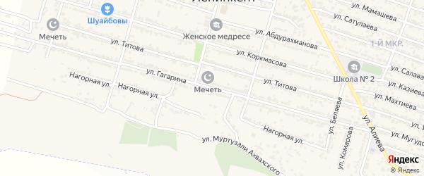 Улица Гагарина на карте поселка Ленинкента с номерами домов