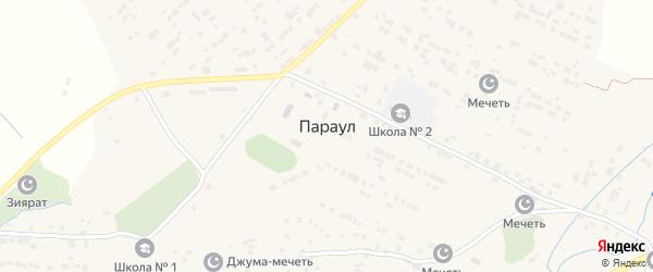 Улица Шихсаидова на карте села Параула с номерами домов