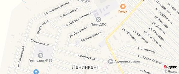 Безымянная улица на карте поселка Ленинкента с номерами домов