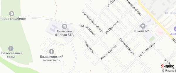 Переулок Лазарева на карте Вольска с номерами домов