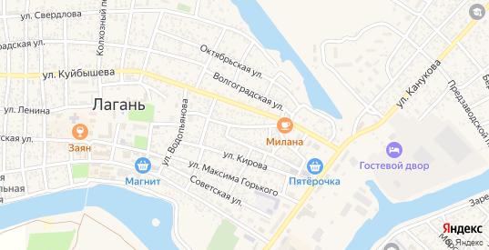Первомайская улица в Лагани с номерами домов на карте. Спутник и схема онлайн