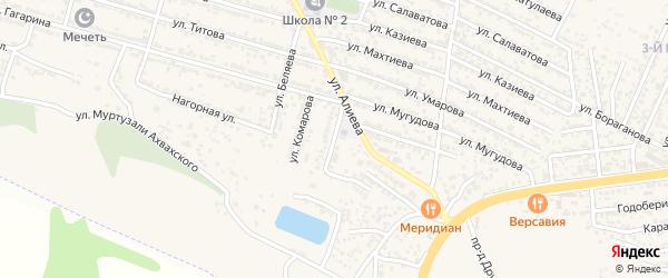 Улица Феоктистова на карте поселка Ленинкента с номерами домов