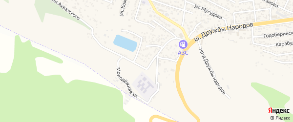 Тупиковая улица на карте поселка Ленинкента с номерами домов