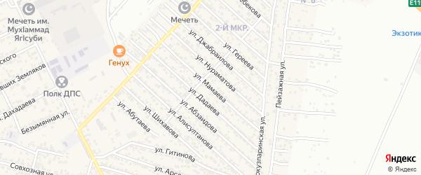 Улица Мамаева на карте поселка Ленинкента с номерами домов