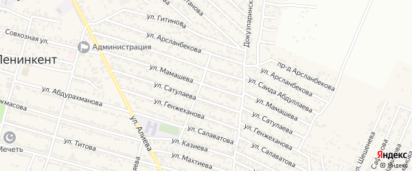 Улица Мамашева на карте поселка Ленинкента с номерами домов