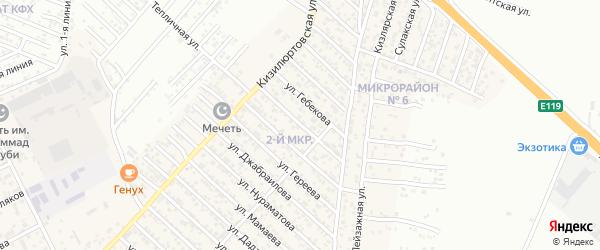 Улица Баширова на карте поселка Ленинкента с номерами домов