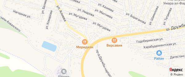 Дербентский 1-й тупик на карте поселка Ленинкента с номерами домов