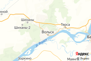 Карта г. Вольск