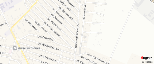 Докузпаринская улица на карте поселка Ленинкента с номерами домов