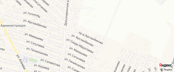 Проезд Арсланбекова на карте поселка Ленинкента с номерами домов
