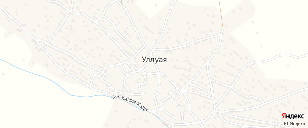 Хасакентская улица на карте села Уллуая Дагестана с номерами домов