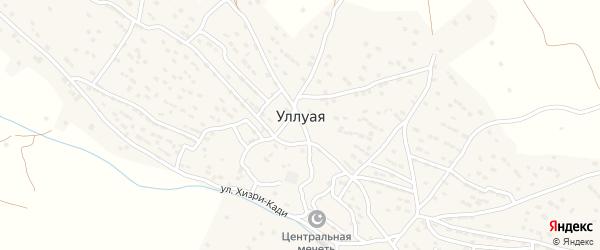 Улица Гаджилаали Хахати на карте села Уллуая Дагестана с номерами домов