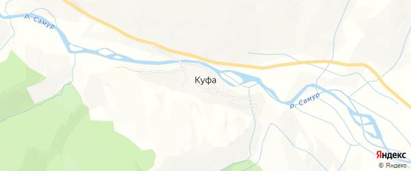 Карта села Куфы в Дагестане с улицами и номерами домов