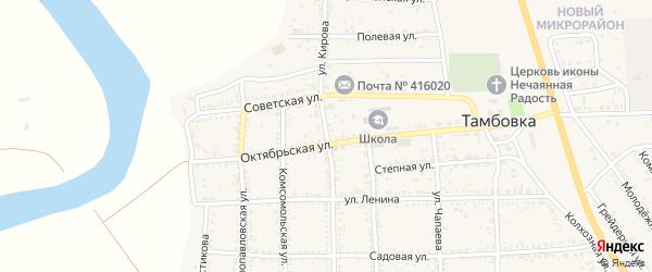 Улица Кирова на карте села Тамбовки Астраханской области с номерами домов