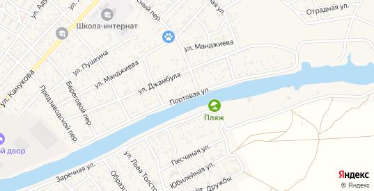Портовая улица в Лагани с номерами домов на карте. Спутник и схема онлайн