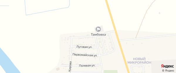 Улица Н.Островского на карте села Тамбовки Астраханской области с номерами домов