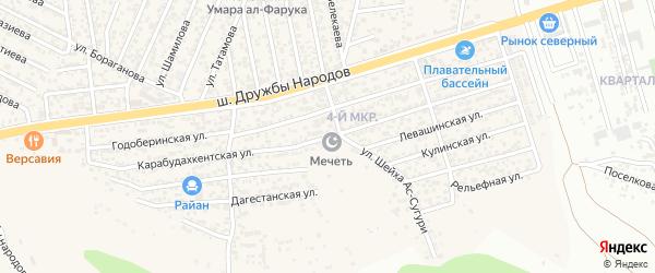 Карабудахкентская улица на карте поселка Ленинкента с номерами домов
