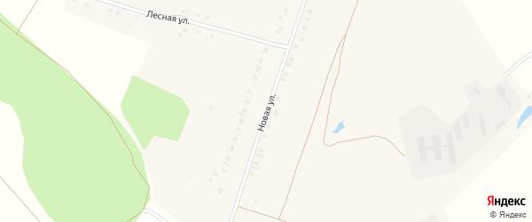 Новая улица на карте деревни Вторые Вурманкасы с номерами домов