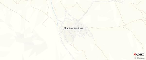 Карта села Джангамахи в Дагестане с улицами и номерами домов