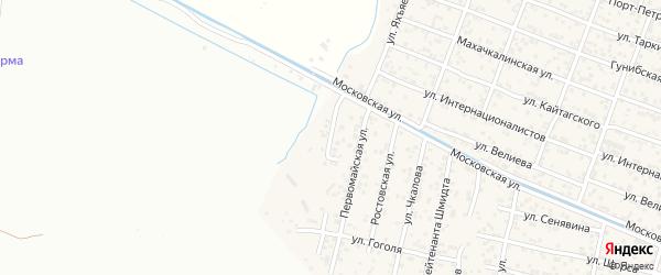 Улица Нухудина Гаджиева на карте поселка Семендера с номерами домов
