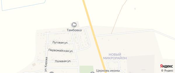 Улица Бармасова на карте села Тамбовки Астраханской области с номерами домов