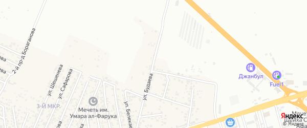 Улица Будаева на карте поселка Ленинкента с номерами домов