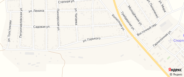 Улица Горького на карте села Тамбовки Астраханской области с номерами домов