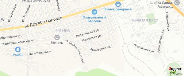 Кулинская улица на карте поселка Ленинкента с номерами домов